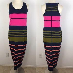 Tommy Bahama Striped Racerback Maxi Dress XL